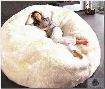 Groovy Ivory Furlicious Faux Fur Beanbags Forskolin Free Trial Chair Design Images Forskolin Free Trialorg