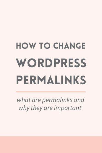 How to change WordPress permalinks ~ Elan Creative Co.