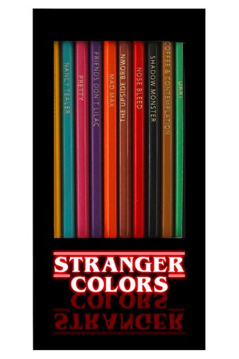 Stranger Things Colored Pencils