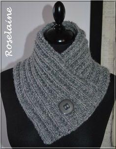 Un chauffe-cou au tricot - Je tricote Tu crochètes