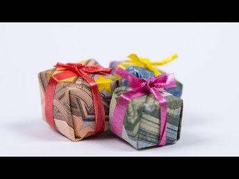 Geldgeschenk Einzug Sitzbank Falten Aus Geldschein Youtu