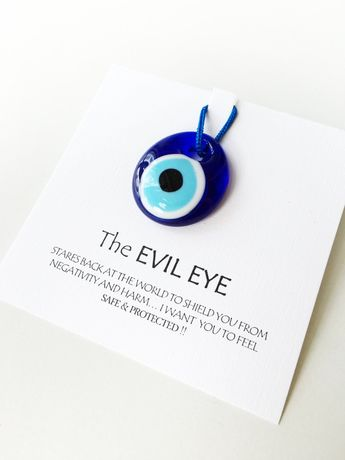 5pcs Unique wedding favors - evil eye bead 3.5cm with card - nazar boncuk