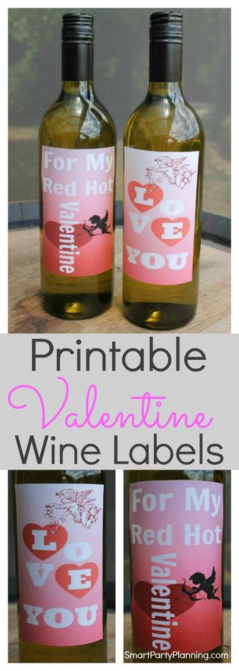 Printable Valentine Wine Labels Your Man Will Absolutely Love