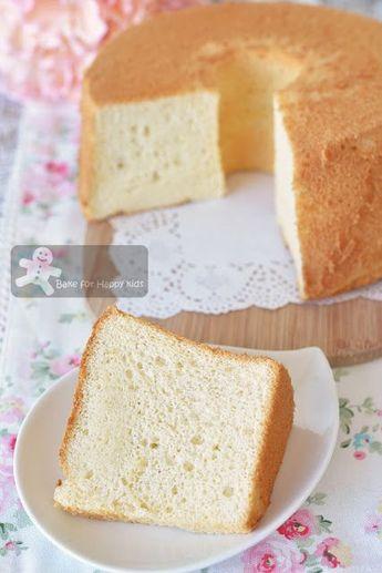 Bake for Happy Kids: Ultra Soft Milk Chiffon Cake