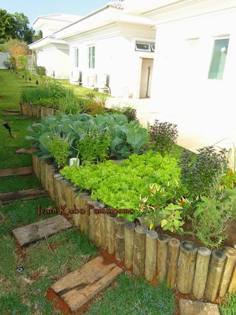 Um sonho dos moradores: ter uma horta com tudo fresquinho no jardim da casa. É bom planejar bem para uma boa colheita: Hora de botar a m...