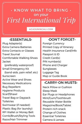 Know What to Bring on Your First International Trip