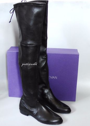 6cd11c7e3ad   156 OFF NEW Stuart Weitzman Lowland leather over-the-knee boot Shoe