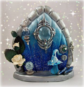 Check this beautiful fairy door out!. www.etsy.com/shop/charmedfairycrafts