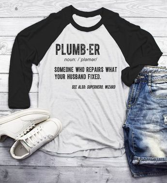 f90a958c Men's Funny Plumber Shirt Shirts For Plumbers Bigger Tools T Shirt Pipe  Wrench TShirt Plumber Gift