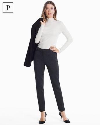 Women's Petite Yarn Dye Slim Ankle Pants by White House Black Market