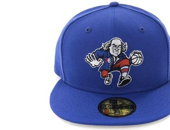 the latest 66fac 918f5 Blue Grey Philadelphia 76ers 59fifty Fitted Cap by NEW ERA x NBA