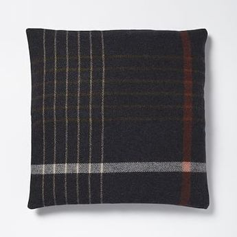 Faribault Grid Plaid Pillow Cover - Heather Shadow | Now, to decide which monogram style to get!