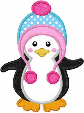 Instant Download Penguin  Applique Machine Embroidery Design NO:1268