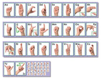 American Sign Language Bulletin Board Cut Out
