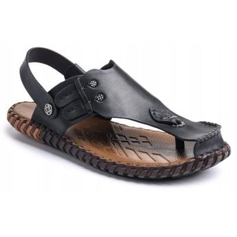Summer Cool Comfortable Full Grain Genuine Leather Men Sandals | Gearbest Mobile