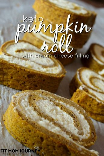 Keto Pumpkin Roll with Cream Cheese Filling