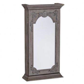 Montclere Wall-Mount Jewelry Armoire with Mirror #jewelleryarmoirecabinets