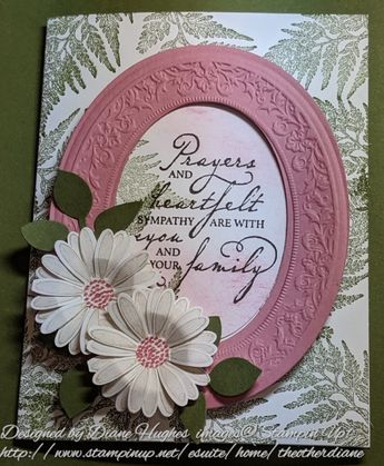 DH Daisy Lane framed sympathy by diane617 - Cards and Paper Crafts at Splitcoaststampers