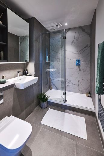 The stylish bathroom at our Kidbrooke Village development is the perfect look to complete your new modern home.