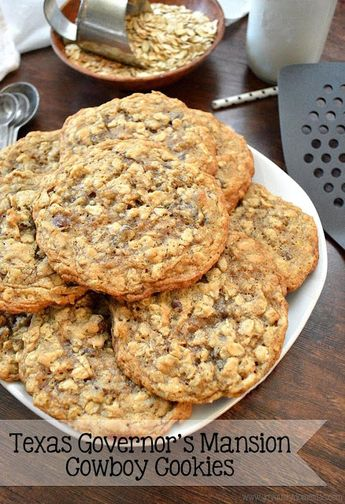 Laura Bush's Texas Governor's Mansion Cowboy Cookies