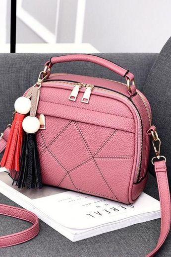 cf86afff5e5b7c New Small Fashion Tassels Shoulder Messenger Bag - Pink #bag #handbag # shoulderbag