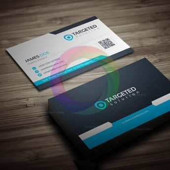 Targeted Business Card Template - Graphic Templates