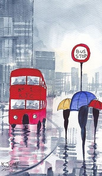Raindrops in London pinned with Bazaart