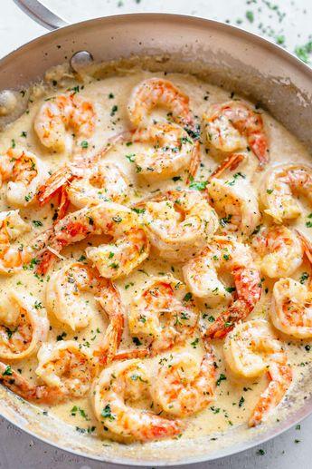 This 10-Minute Creamy Garlic Shrimp Is a Dinner Winner