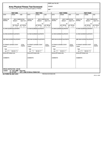 DA Form 2173 - Statement Of Medical Examination And Duty St
