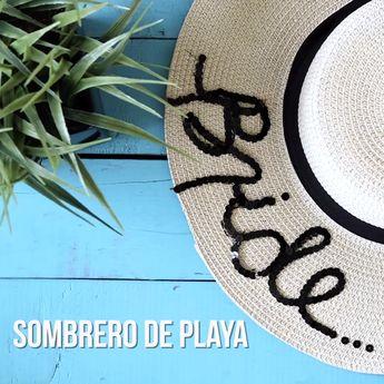 DIY: Dale un refresh a tus sombreros de playa