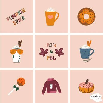 """⋒ ᴄʜᴇʀʏʟ ⋒ on Instagram: """"Free graphics alert! You can grab these pumpkin spice graphics for your insta (stories, highlight and post sizes) now! 🥞🥞🥞 Follow the…"""""""