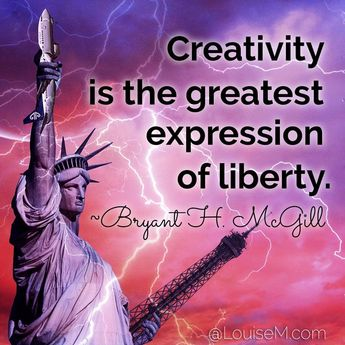 Creative inspiration: Be free! Click to blog for 100 more creativity quotes. | #LouiseM #Creativity #InspirationalQuotes #DIYdesign