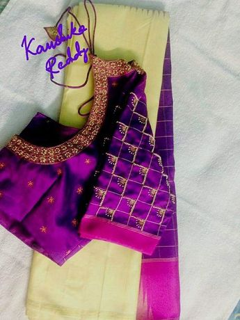 68e554774c9458 Recently shared blouse designs simple maggam work ideas & blouse ...