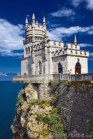 Castle Swallow'S Nest Near Yalta In Crimea by Alexey Stroganov, via Dreamstime