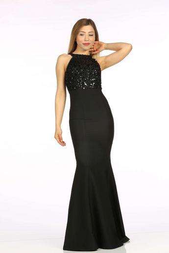 ca23ffecbc6d8 siyah daisy abiye - Kapıda Ödemeli Ucuz Bayan Giyim Online Alışveriş Sitesi  ModiVera Ucuz abiye elbiseler