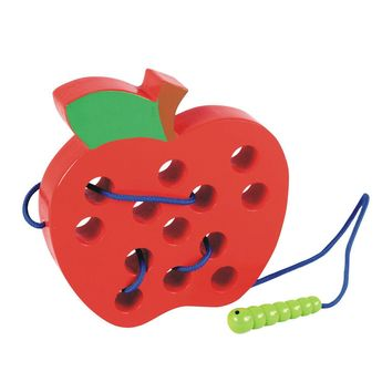 Wooden Learning Early Development Lacing Threading Apple -Educational Toys for Kids - free shipping  Vendor: Soften & Kawaii66999 Store Type: Home Price: 19.99  Lovely wooden apple with a cute bug that will go inside the holes to pretend it is going around while your little one is learning to thread step by step. This is a very interactive toy excellent for an early development. Your kid will love to go around with the little bug around the holes.  Our customers that got this product have said g