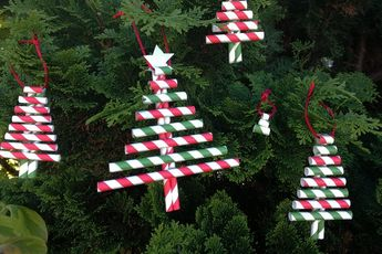 Basteln mit Strohhalmen – Weihnachtsdeko mit Papierstrohhalmen und Ideen für Weihnachtsbaumschmuck