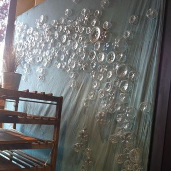 Bubble Wall out of plastic bottle bottoms!