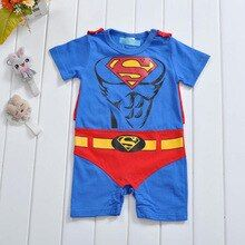 Newborn Bebe Anime Superman Clothes Suit Infant Romper For Boys Girls Cotton Onesie Costume Outfit Loose Soft Summer Jumpsuit
