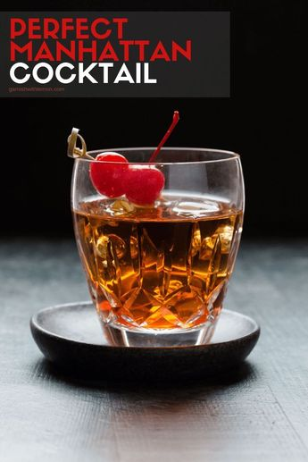 Calling all whiskey lovers, this one is for you! You can never go wrong with a classic especially when it is the Perfect Manhattan Cocktail. #manhattan #cocktails #whiskey #bourbon