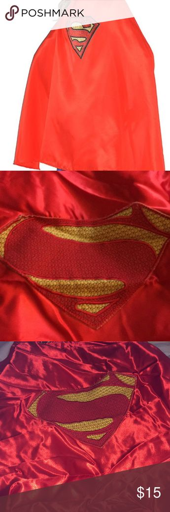 Superman Cape! Superman Cape, Unisex, hundred percent polyester Feels like silk material bright red with superman logo DC comics brand DC Comics Other