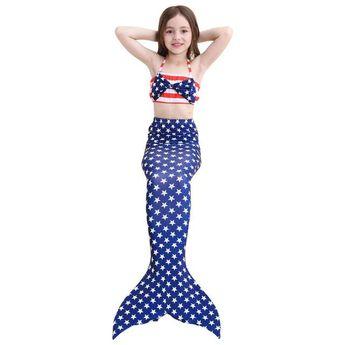 749fa1e9d3 Little Mermaid Tail for Swimming Children Swimwear Bathing suit Connectable  Costume Bikini Mermaid Tail Cosplay Girls
