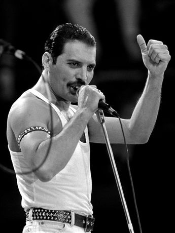 Queen Rare BW Stage Freddie Mercury Singing Rock Band Giant Wall Print POSTER