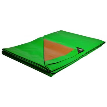 Roof tarpaulin 6 x 10 m 250g / m Anti UV treated green and brown  High quality polyethylene roof covering  UNIVERS DU PRO