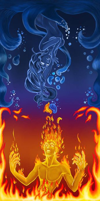 Water and Fire by red-eye-girl