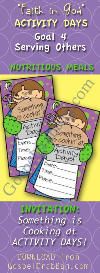 List of attractive serving others activity days faith ideas