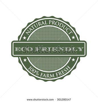 Eco friendly seal logo