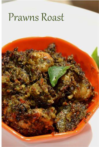 Vaniensamayalarai: Kerala Prawns Roast with pepper and curry leaves
