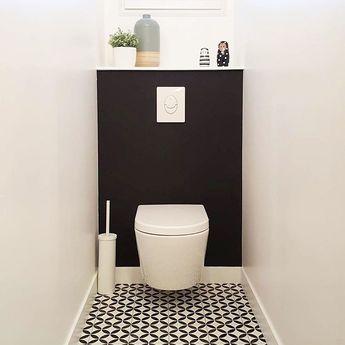 Qui a dit que des toilettes ne pouvaient pas être bien décorées ? Celles de @sophiebdeco prouvent le contraire !⠀ ⠀ #regram #repost #decoration #madecoamoi #inspiration #homedecor #Lapeyre #instadecor #madeco #interiordesign #salledebains #photodujour