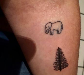 Simple And Easy Pine Tree Tattoo Designs Meanings 2019